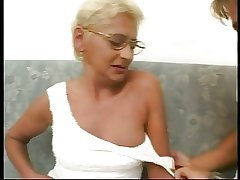 Blonde Granny Shagging