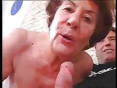 Tall German Granny in indestructible Anal sex with schoolboy