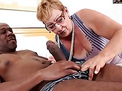 Puristic GRANNY Alongside GLASSES GETS BBC