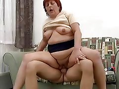 Chubby Perforated Redhead Anal Granny Fucked