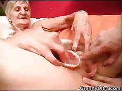 Granny Fucked As Stud Play About Her Dentures
