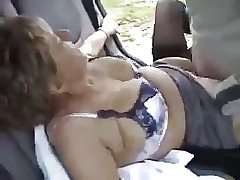 British granny screwing Christine outdoor