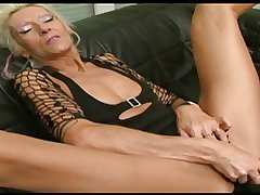 Granny Claudia fucked wide of a dildo and a BBC