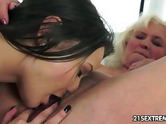 Anina loves the taste be advisable for an old pussy