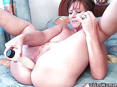 British grannies Felicity and Becky love anal play