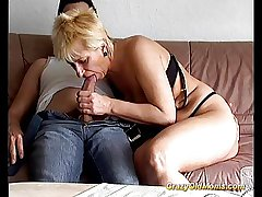 Crazy old mummy gets fucked unchanging taking big cock blowjob