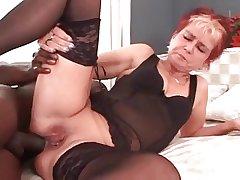 My X piercings - pierced granny BBC anal