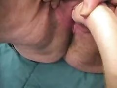 Fatt grotesque old granny loves to masturbate !! Real second-rate