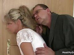 He leaves plus horny parents seduces his hot GF