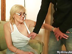She enjoys having it away her son-in-law