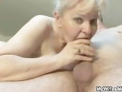 She sucks and fucks her son in step