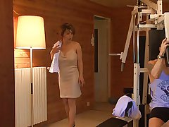French milf fucked here sauna