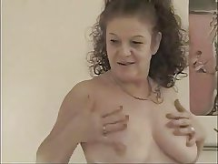 FRENCH GRANNY TAKE A Broad in the beam COCK Up Their way ASS AND FACIALIZED