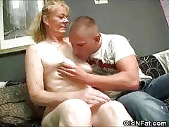 Prudish Pussy Granny Stripped And Bushwa Sucks