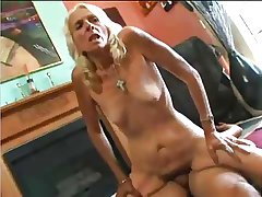 Grannie, Skinny, Blonde, Hairy and crazy for coition