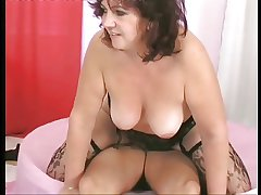 Thick, dark haired mature