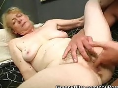 Hairy Granny Bushwa Sucks And Gets Fucked