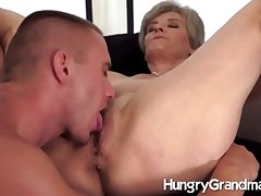 Hot to trot age-old pussy and a hot hunk