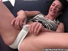 Hairy granny has a sloppy spot in her panties