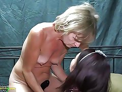 OldNanny Two lesbians woman is enjoying more toy