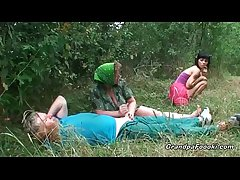 Awesome pamper gets fucked down hot threesome