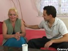 Granny slut is picked round and fucked
