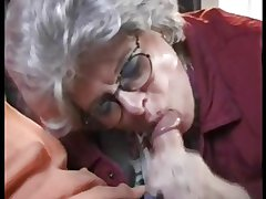 German Mature Granny Fucking is Grandson handy All