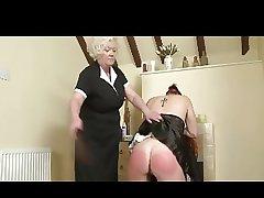 Domme Granny Spanks someone's skin Sheila