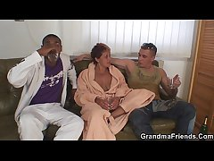 Interracial granny double nadir thoroughly