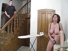 Redhead Granny-Beauty Anal On high Stairs