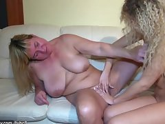 HOT! Beamy moms teach sex her young daughter