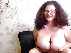 Huge titty granny webcam