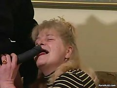Busty Granny Gets Dicked Down