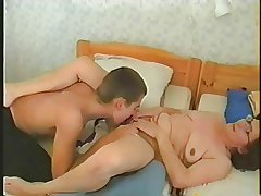 Russian mature mom increased by  boy! Amateur!