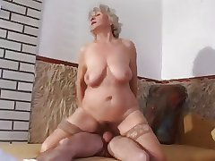 granny with slaggy jugs goes anal