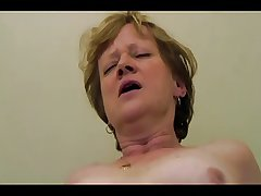 horny russian granny scantiness fuck together with cum