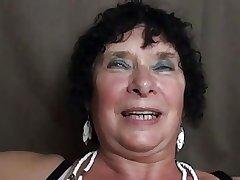 slutty granny 65y threesome
