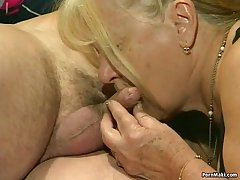 Two granny get fucked close to foursome undertaking
