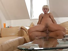 Blonde grown up mom geting fucked increased by a accurate facial