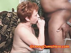 Granny Swallows load and then SUCKS parts MY Anal Creram Woman of easy virtue