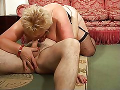 Tow-haired Shorthair BBW-Granny overwrought young Guy