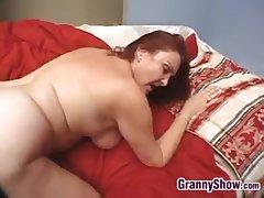 Blue Granny Enjoying THis Hard Cock