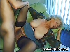 Age-old crude mature wife sucks and fucks with cumshot