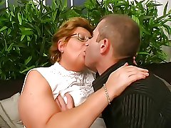 Hungarian Glasses-BBW-Granny fucked at the end of one's tether Young Person
