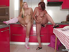 The way the ball bounces mother with the addition of teen toying handy the kitchen