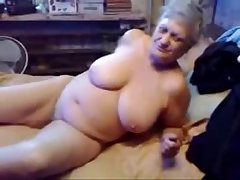Hellacious grandma fingering say no to pussy. Real amateur