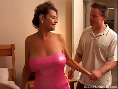 Raven is a raunchy older chick who loves to fuck unlucky younger guys