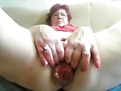 55yr old Granny Fucks Communistic Prolapse her Cunt and Pest at bottom Cam