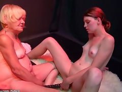 OldNanny aged and young girl masturbating and sucking dick