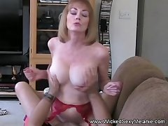 Mom Riding Son's Cock On The Vis-�-vis